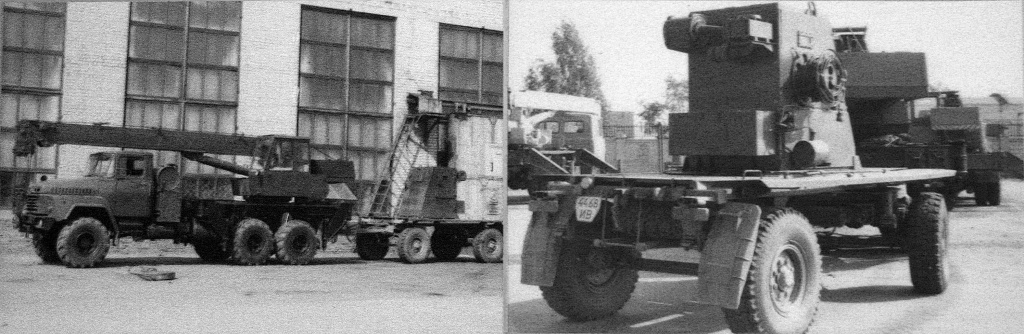 Автокран КС-3576-КЗ с прицепной кабиной крановщика, защищенной от радиации
