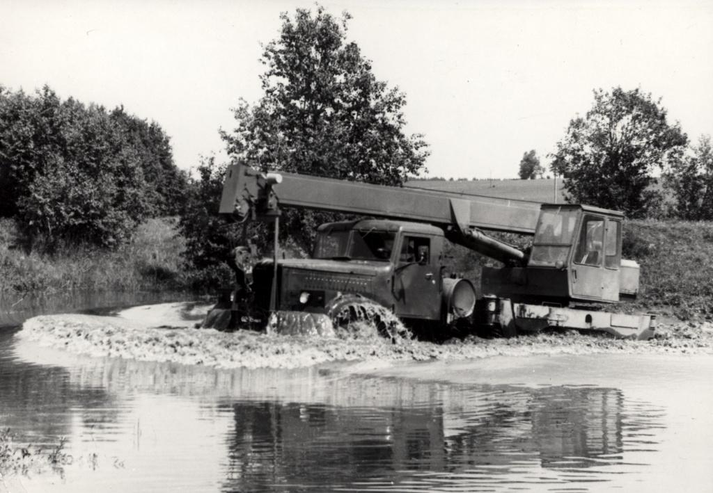 Автокран КС-3572 на шасси КрАЗ-255Б